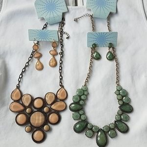 MODCLOTH statement stone necklace earring set